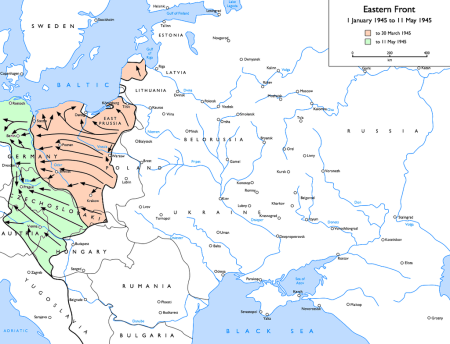 1945, η σοβιετική προέλαση